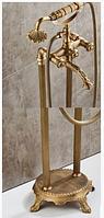 Стойка напольная в ванную комнату в бронзе 8-004