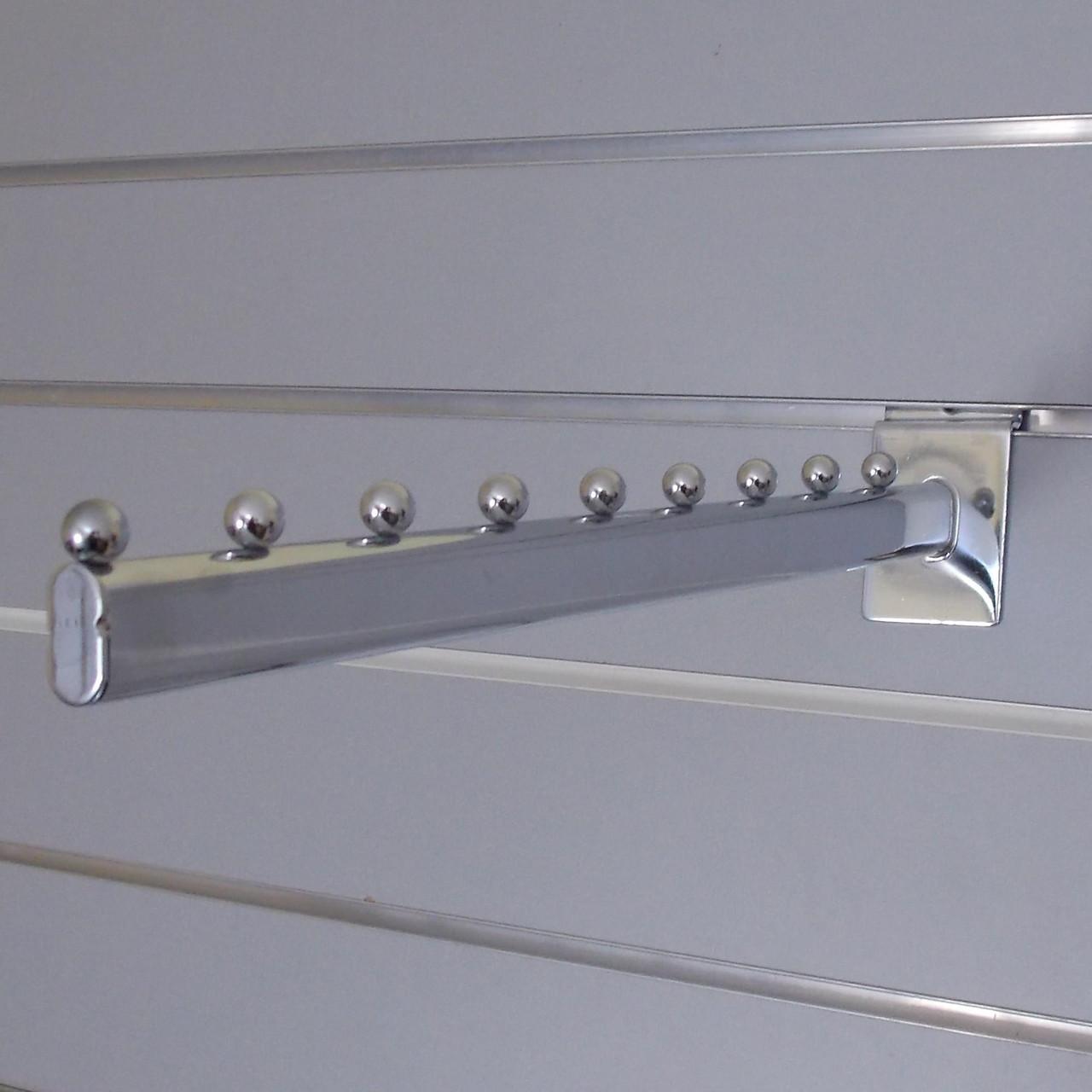 Флейта кронштейн прямий хром розміром 400мм в торговою економпанель