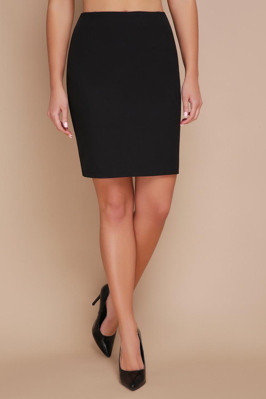 Женская прямая черная юбка