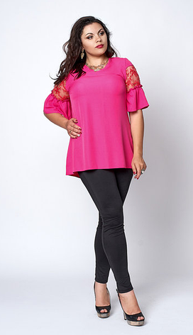 "Блуза ""Кармен"" большой размер размер 54,56,58 фукция, фото 2"