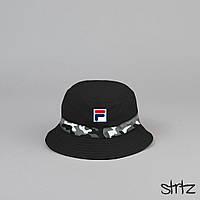 Классная черная панамка ФИЛА