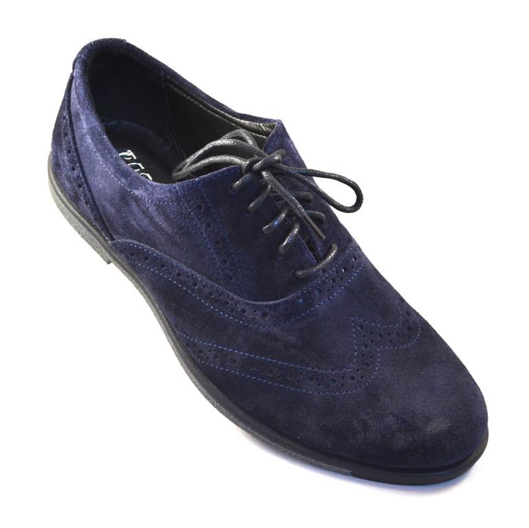 Туфли мужские замшевые броги синие Rosso Avangard Persona 18 Blu Vel