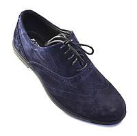Туфли мужские замшевые броги синие Rosso Avangard Persona 18 Blu Vel, фото 1