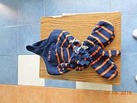 Комплект для ребенка шапочка и варежки в полоску Old Navy
