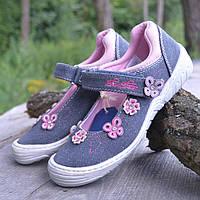 Текстильные кеды на девочку Tom Tailor р 31. Сменная детская обувь.  Текстильные мокасины 8018133014d