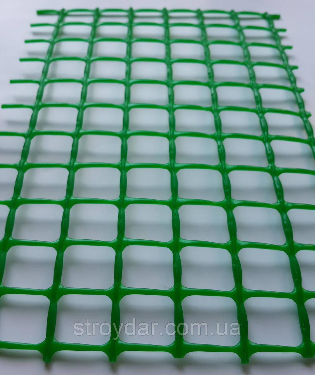Сетка пластиковая декоративная Клевер Д 20 Зеленая Усиленная