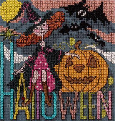 Набор для вышивания крестом Panna OT-1353 Праздничные миниатюры. Happy Halloween