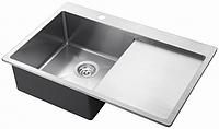 Мойка кухонная из нержавеющей стали AquaSanita  Luna 101 NL- NR 50x78x20