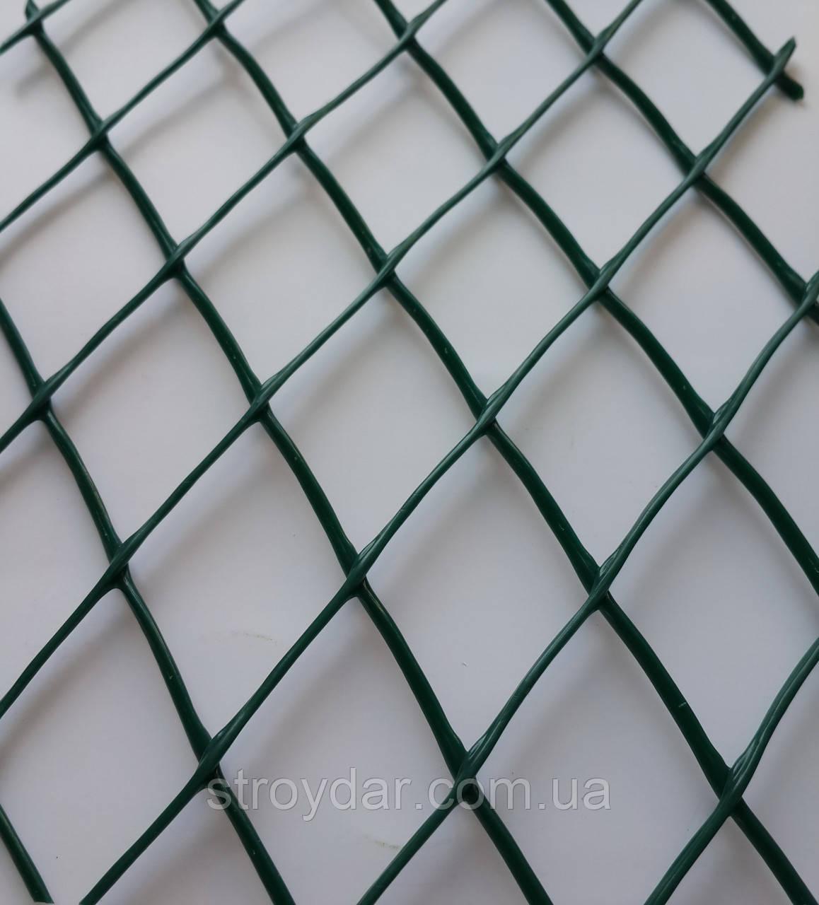 Сетка пластиковая декоративная ромб ДР 30 Темно-зеленая
