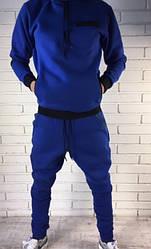 """Мужские спортивные штаны """"сборка"""" синие \ серые"""