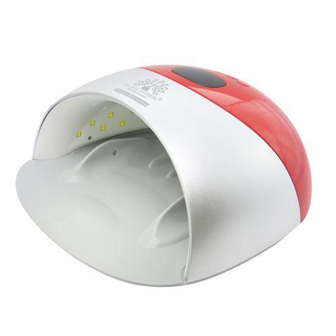Лед/уф лампа для сушки ногтей 48W Global Fashion (красная)