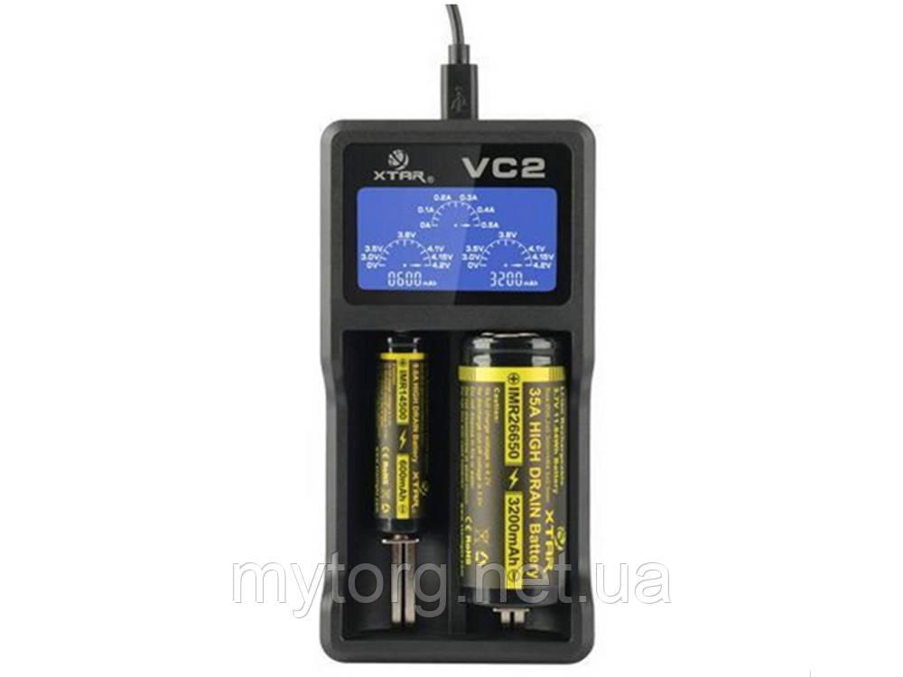 Зарядное устройство XTAR VC2 для Li-Ion аккумуляторов с LCD-дисплеем