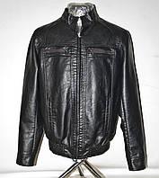 """Куртка мужская демисезонная кожзам, размеры 48-60 (2 цвета) Серии """"FUDIRO"""" купить оптом в Одессе на 7 км"""