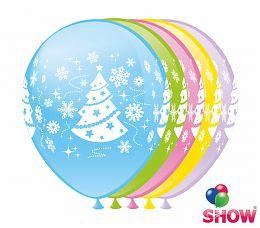 """Повітряні кульки """"Ялинка"""" 5 ст. шовкографія 12"""" (30 см) ТМ Show"""