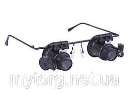 Увеличительные очки лупа для ювелирных и часовых работ 20х