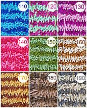 Набор из 2-х ковриков из микрофибры (Лапша оранжевая полоска) 80*50 см и 40*50 см (с вырезом), фото 3