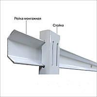 Рейка монтажна розміром 1000мм в гардеробній системі зберігання Україна