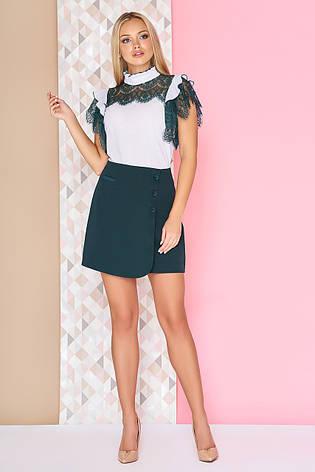 69e28040c9ac Модная короткая деловая юбка на запах с пуговицами