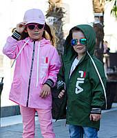 Куртка Ветровка с капюшоном детская оливка