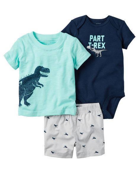 Комплект 3-од. Динозаврик з шортами, фото 2