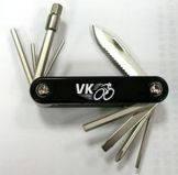 Ключи-шестигранники 2/2.5/3/4/5/6/8MM 10 в 1 VK c ножом, отвёртки