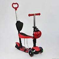 Самокат 5в1 А 24677 - 3040 Best Scooter КРАСНЫЙ, колеса PU светящиеся