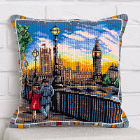 Набор для вышивания крестом Panna PD-1737 Подушка Небо Лондона (Подушка)