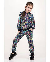 Детский спортивный костюм для девочки двунитка