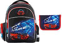"""Комплект школьный. Рюкзак """"Super car"""" K18-510S-2, Пенал, ТМ  KITE"""