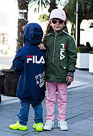 Куртка Ветровка с капюшоном детская синяя