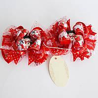 Подарочный набор. Резинка для волос для девочки. Сладкий снеговик.
