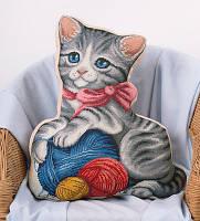 Набор для вышивания крестом Panna PD-1884 Подушка Мой котенок (Подушка)