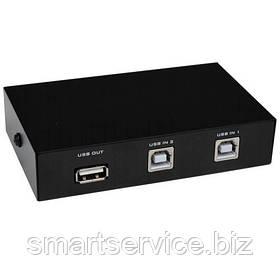 Соединитель FJGEAR, USB (switch) на 2 гнезда USB B (FJ-1А2В)