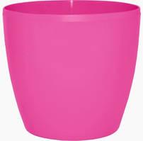 """Горшок для цветов """"Матильда"""", темно-розовый, 7*6, 0,15 л, Украина"""