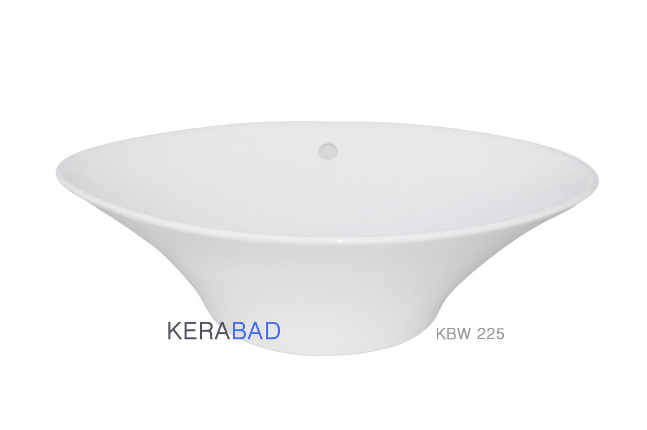 Умывальник накладной на столешницу Kerabad KBW225 (раковина Kerabad  KBW225) 65*40 Овальная форма