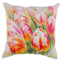 Набор для вышивания крестом Panna PD-1916 Весенние цветы (Подушка)