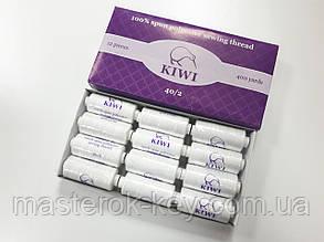 Швейная нитка Kiwi 40/2 цвет белый
