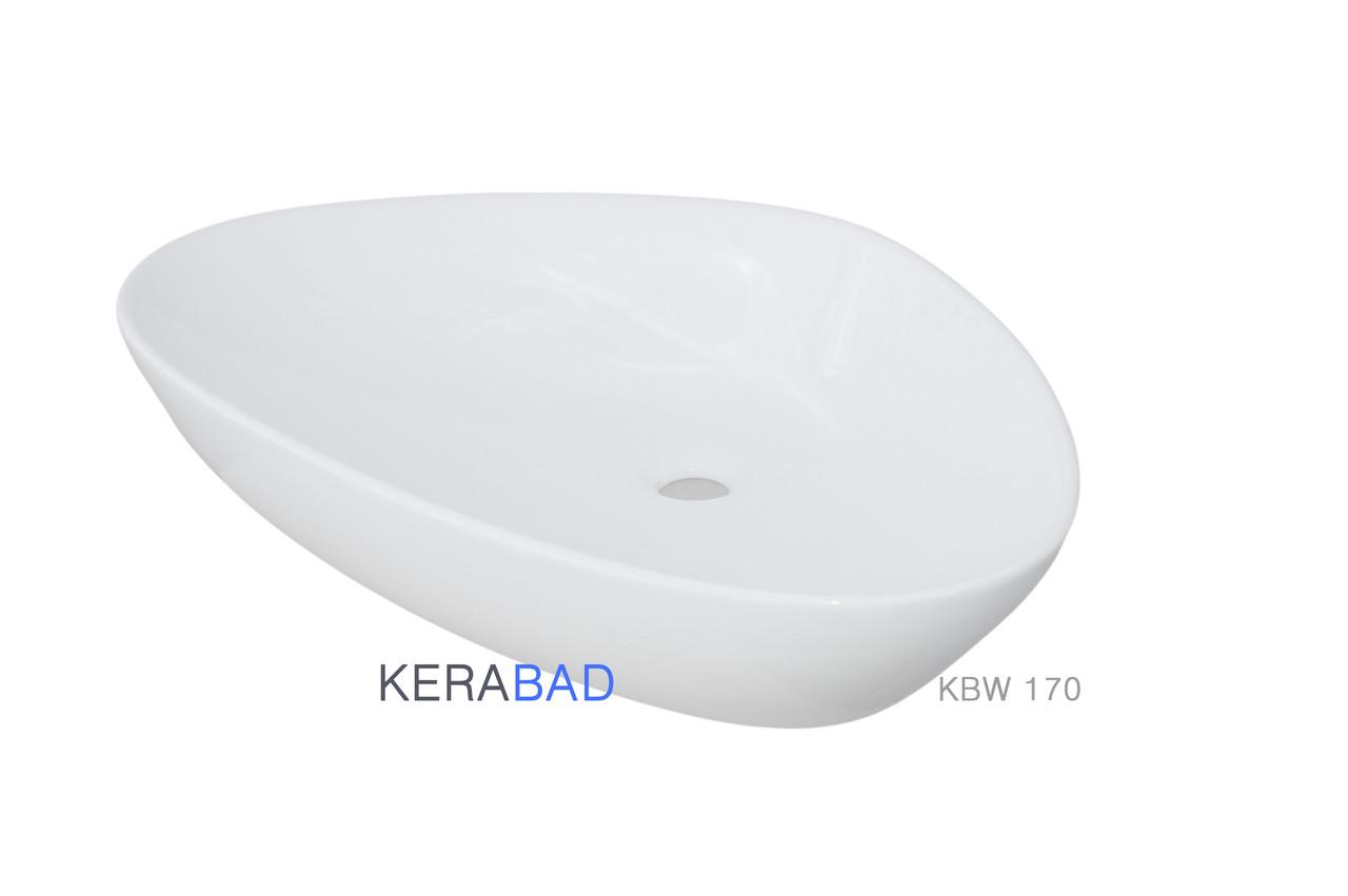 Умывальник накладной Kerabad KBW170 (раковина Kerabad  KBW170) 67*44 Нестандартная форма