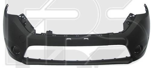 Передний бампер Renault Dokker, Lodgy 12- черный, без отв. ПТФ (FPS), фото 2