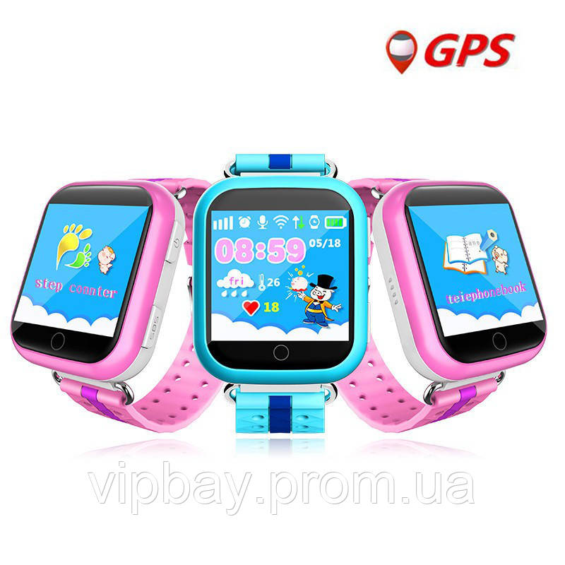 Детские умные Gps часы телефон трекер Smart Baby Watch Q750 c сенсорны