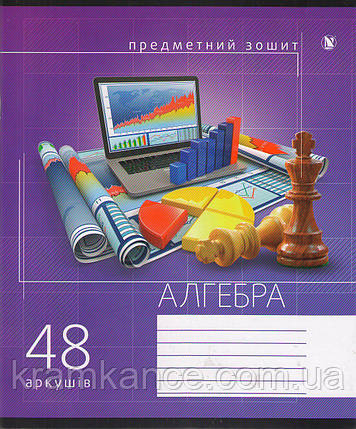 """Тетрадь """"АЛГЕБРА"""" 48 листов NAVIGATOR клетка , фото 2"""