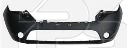Передний бампер Renault Dokker, Lodgy 12- черный, c отв. ПТФ, грунтованный (FPS), фото 2