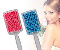 Расческа Щетка для сушки волос с микрофиброй - для здоровых и красивых волос Розовая