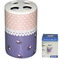 Подставка для зубных щеток 'Ситец' 6,5*10,5 см 888-02-008
