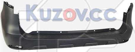 Задний бампер Renault Dokker, Lodgy 12- черный, под покрас (FPS), фото 2
