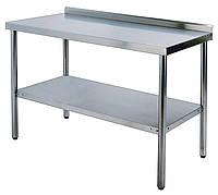 Стол производственный нерж. с бортиком 750*1200 мм