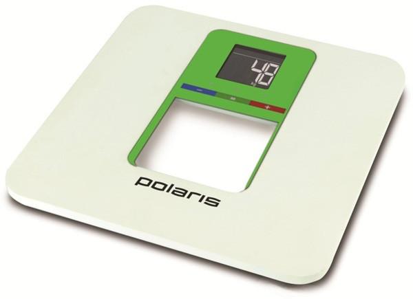 Весы напольные Polaris PWS 1833D Белый с Зеленым (весы платформенные)