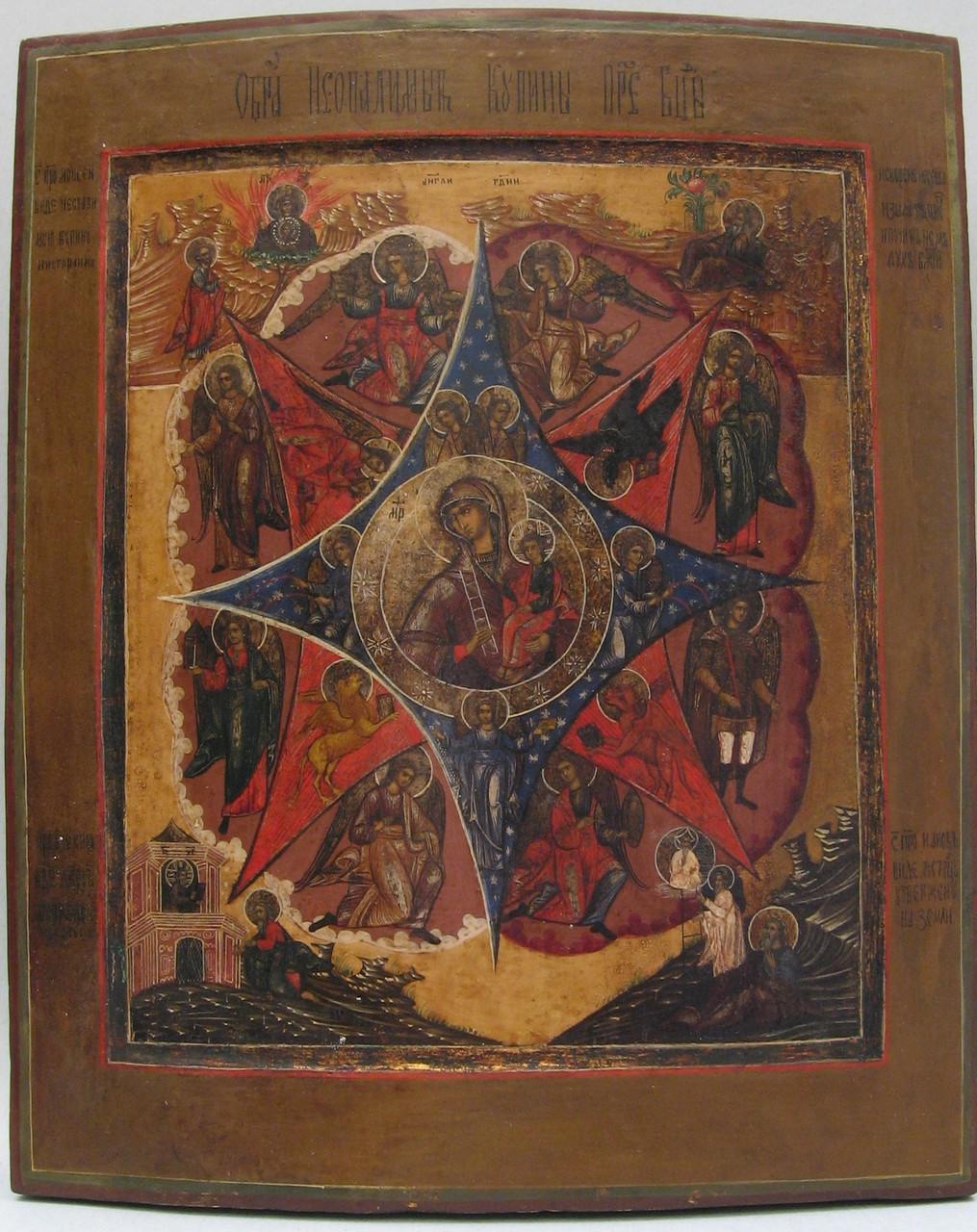 Икона Неопалимая купина 19 век