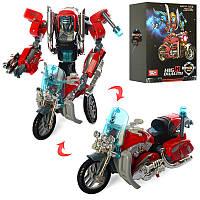Трансформер J8015A, робот+мотоцикл, металл, 17см