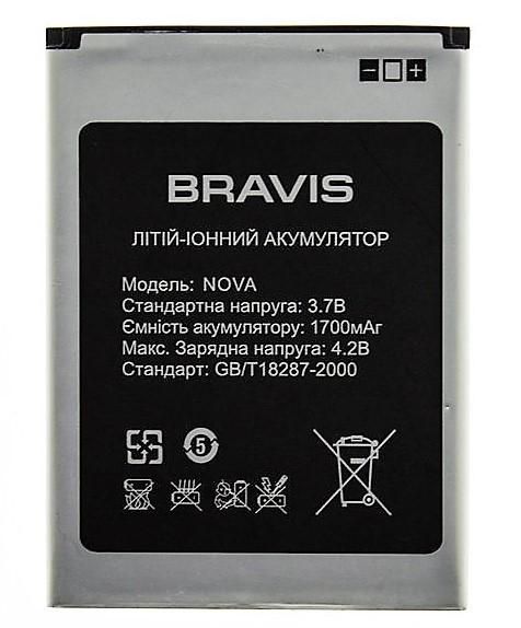 Аккумулятор литий-ионный батарея Bravis nova  3.7В